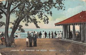 Oakland Beach New York Waterfront Pavilion Scene Antique Postcard K34911