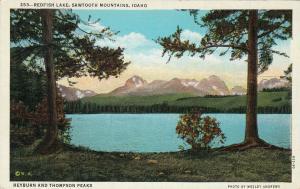 Heyburn And Thompson Peaks, Redfish Lake, Sawtooth Mountains, Idaho, 1930-1940s