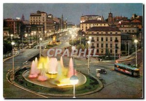 Postcard Modern Zaragoza Paradise Square and Independence Avenue