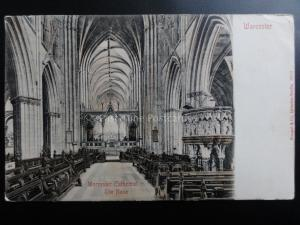Worcester Cathedral THE NAVE c1905 Pub by Stengel & Co No.19512