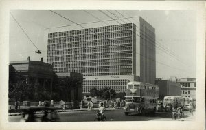 pakistan, KARACHI, State Bank of Pakistan, Bus (1960s) RPPC Postcard