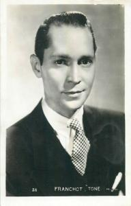 Franchot Tone actor photo postcard