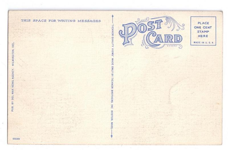 Dover Delaware DE Post Office Vintage Linen Postcard