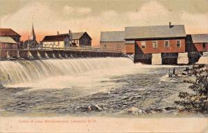 LAKEPORT NEW HAMPSHIRE~OUTLET OF LAKE WINNEPESAUKEE-PHOTO POSTCARD 1908 PSTMK