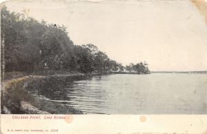Lake Kegonsa Wisconsin~Colladay Point~Grassy Shore~c1910 Postcard