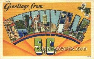Greenville, SC USA Large Letter Town Vintage Postcard Old Post Card Antique P...