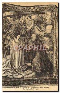 Postcard Old Aix Flemish tapestries XVI century the Nativity N S