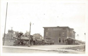 D4/ Two Harbors Minnesota Mn Real Photo RPPC Postcard Iron Ore Train c30s