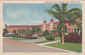 Florida Sebring The Kenilworth Lodge On Lakeview Drive 1944 Curteich