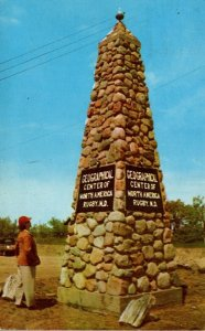 North Dakota Rugby Masonry Monument Geographical Center Of North America 1969
