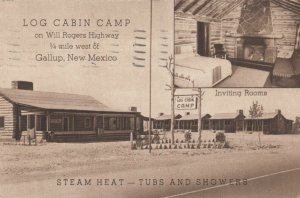 GALLUP , New Mexico , 1941 ; Log Cabin Camp , Route 66