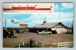 Colorado City TX, Bernard's Tourist Town, Texas Chrome Postcard
