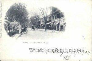 Rue Catinat a Saigon Cochinchine Vietnam, Viet Nam 1904 Writing on front & mi...