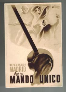 Mint Spain Civil War Propaganda Postcard We Will Defend madrid Under One Command