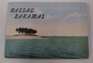 Nassau Bahamas Hotels Street Scenes Etc Vintage Postcard Folder J74219