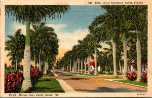 Florida Punta Gorda Marion Avenue 1940 Curteich