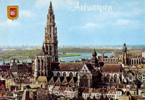 Belgium Antwerpen Cathedral Kathedraal Panorama River
