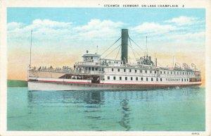 Postcard Steamer Vermont On Lake Champlain
