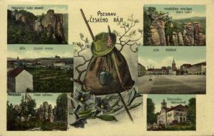 czech, ČESKÉHO RÁJE, Multiview Bohemian Paradise (1912) Stamp
