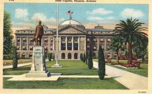 Phoenix, Arizona, AZ, State Capitol, 1936 Linen Vintage Postcard g3536