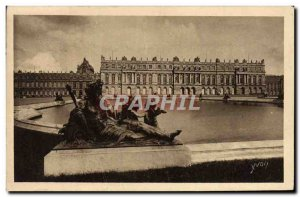 Old Postcard Park of Versailles Facade du Chateau on Parterres d & # 39Eau