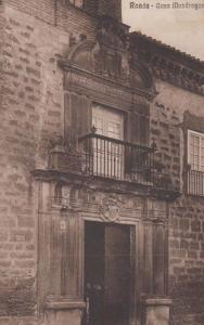 Ronda Casa Mondragon Antique WW1 Wartime War Time Spain Spanish Postcard + Frank