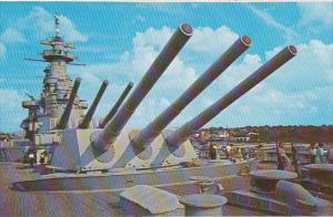 16 inch Guns U S S North Carolina Wilmington North Carolina