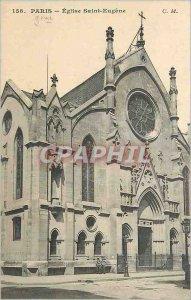 Postcard Old Church Paris Saint Eugene