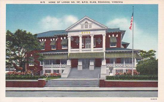 Virginia Roanoke Home Of Lodge No 197 B P O Elks