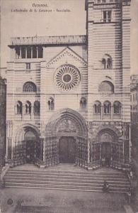Italy Genova Cattedrale di San Lorenzo Facciata