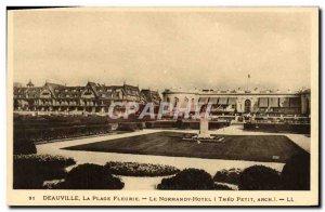 Old Postcard Deauville La Plage Fleurie The Normandy Hotel