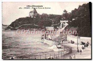 Old Postcard Dinard Beach and Pointe Du Reel