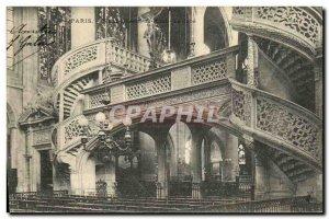Old Postcard Paris Saint Etienne du Mont The jube