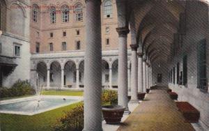 Massachusetts Boston Public Library Courtyard