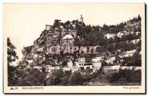 Rocamadour - Vue Generale - Old Postcard