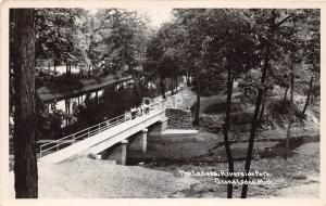 B91/ Grand Ledge Michigan Mi Real Photo RPPC Postcard c50s Riverside Park Ledges