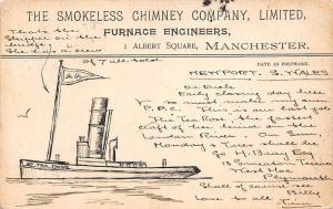 The Smokeless Chimney Company, Furnace Engineers, Albert Square, Manchester 1902