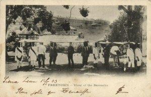 PC CPA SIERRA LEONE, FREETOWN, VIEW OF THE BARRACKS, Vintage Postcard (b24763)