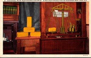 South Dakota Lead Homestaake Mine Gold Bricks Worth $ 125,000.00 1955 Curteich