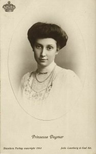 denmark, Princess Dagmar (1910s) RPPC Postcard