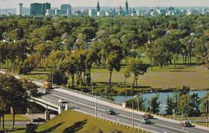 Riverside Drive with the City skyline in the background,  Ottawa,  Ontario,  ...