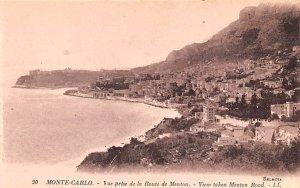 Vue prise de la Route de Menton Monte Carlo Unused