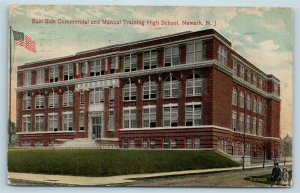Postcard NJ Newark East Side Commercial Manual Training High School U7