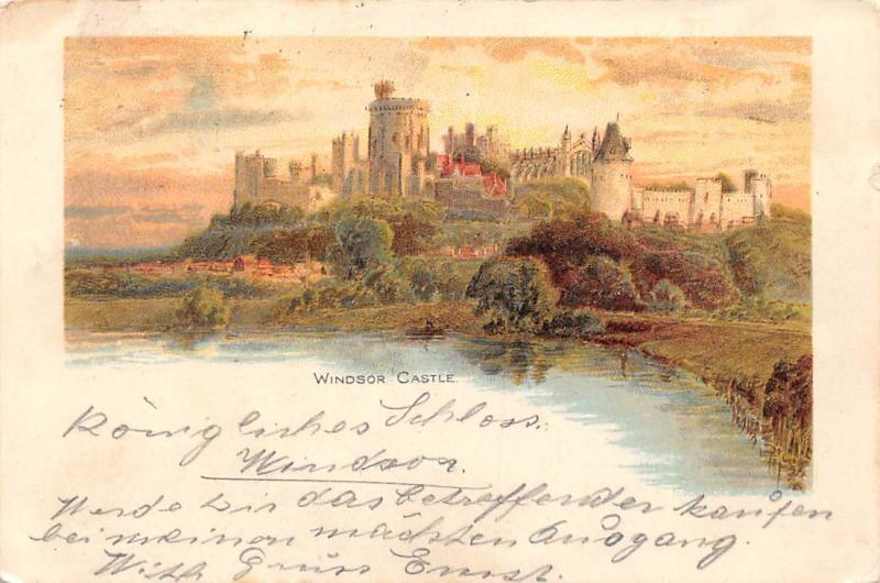 Windsor Castle Chateau Panorama 1901