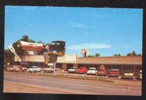 MINDEN NEBRASKA PIONEER VILLAGE OLD CARS ADVERTISING VINTAGE POSTCARD NEBR.