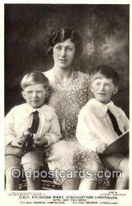 Princess Mary and children British Royalty Unused