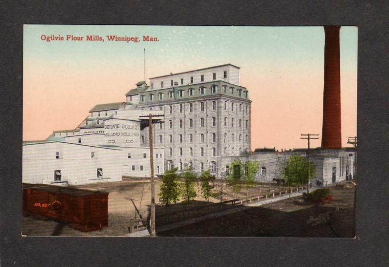 Carte Canada Manitoba.Mb Ogilvie Flour Mill Grain Winnipeg Manitoba Canada Carte Postale