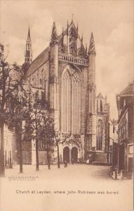 Church At Leyden Where John Robinson Was Buried Plymouth Massachusetts Albertype