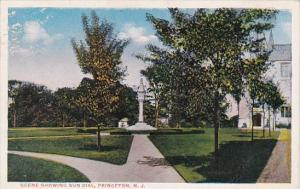 Scene Showing Sun Dial Princeton New Jersey