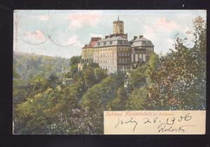 SCHLOSS FURSTENSTEIN GERMANY 1906 ANTIQUE VINTAGE POSTCARD